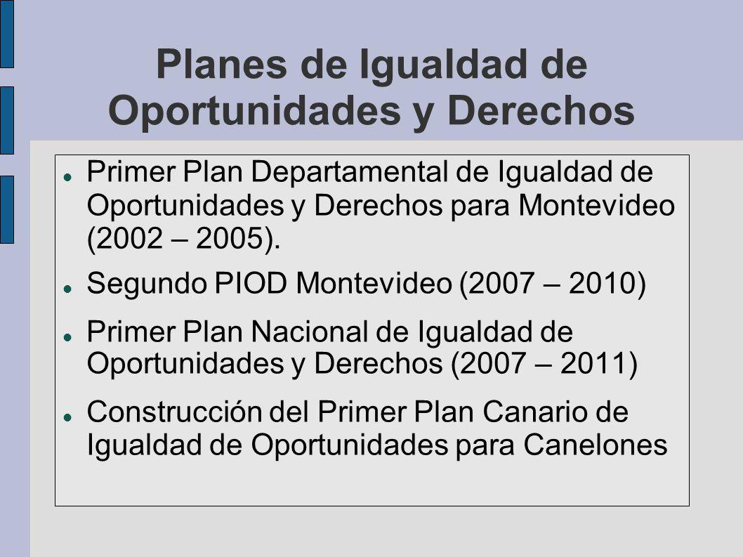 Planes de Igualdad de Oportunidades y Derechos