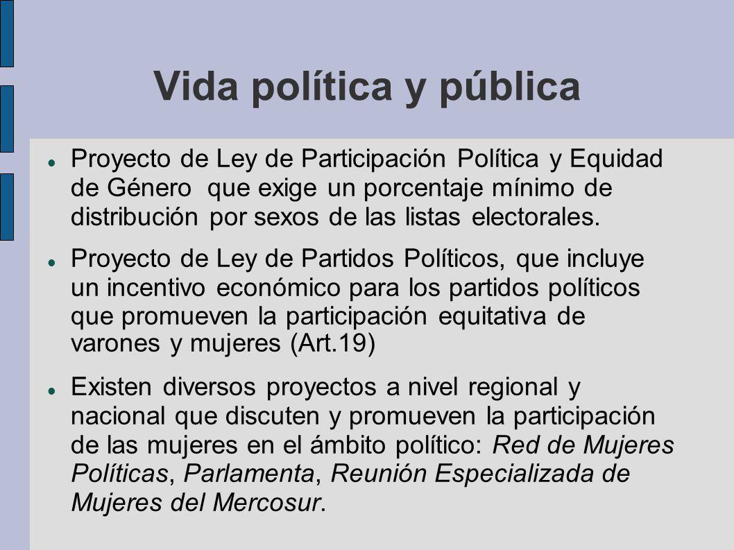 Vida política y pública