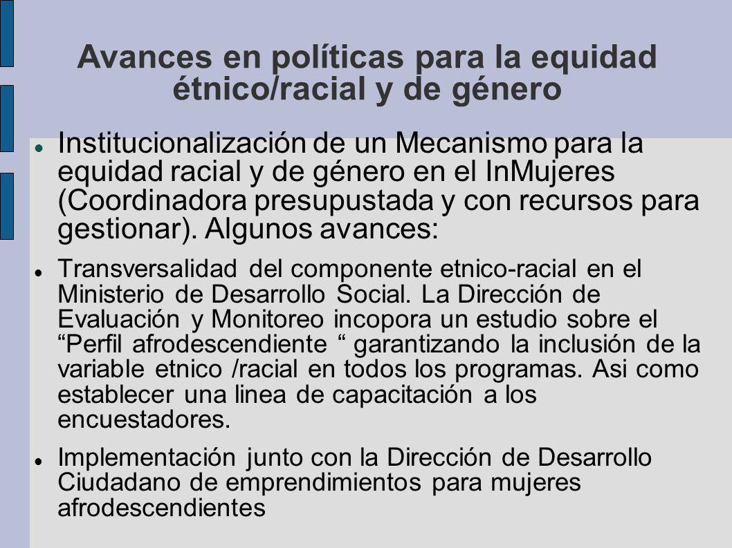 Avances en políticas para la equidad étnico/racial y de género