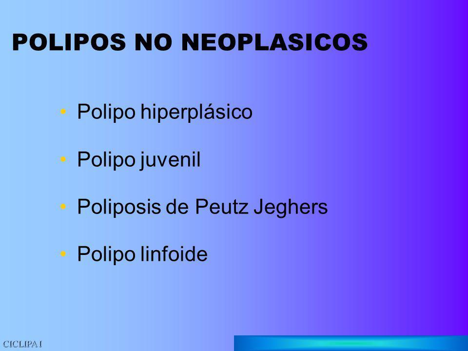 POLIPOS NO NEOPLASICOS