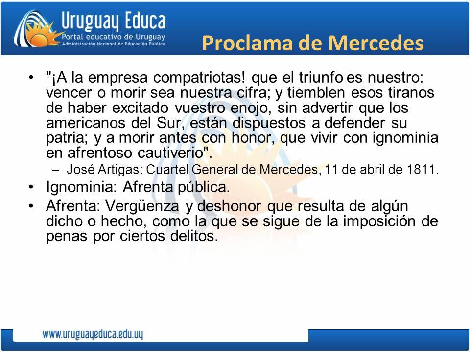 Proclama de Mercedes