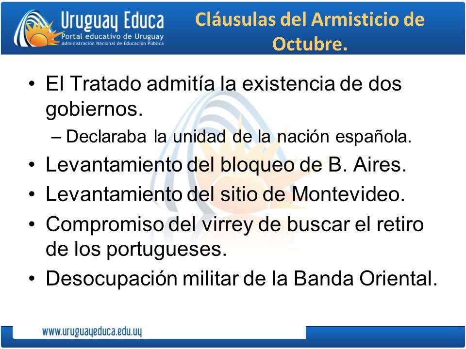 Cláusulas del Armisticio de Octubre.