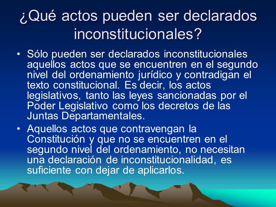 ¿Qué actos pueden ser declarados inconstitucionales