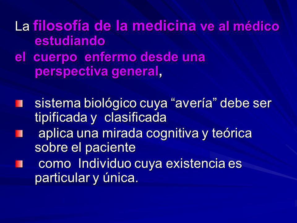 La filosofía de la medicina ve al médico estudiando