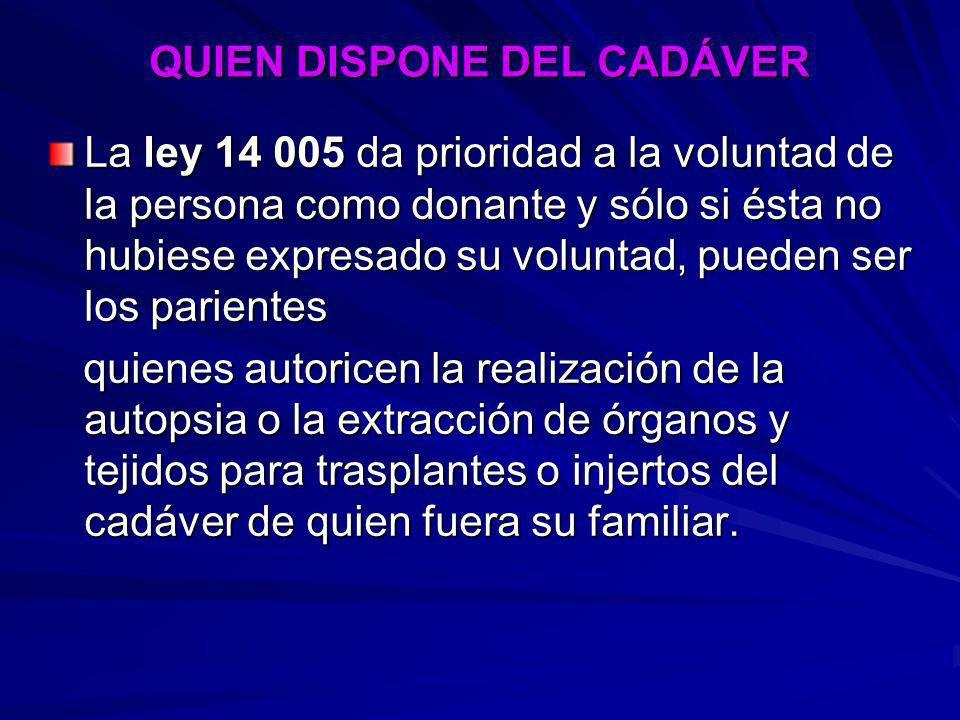 QUIEN DISPONE DEL CADÁVER