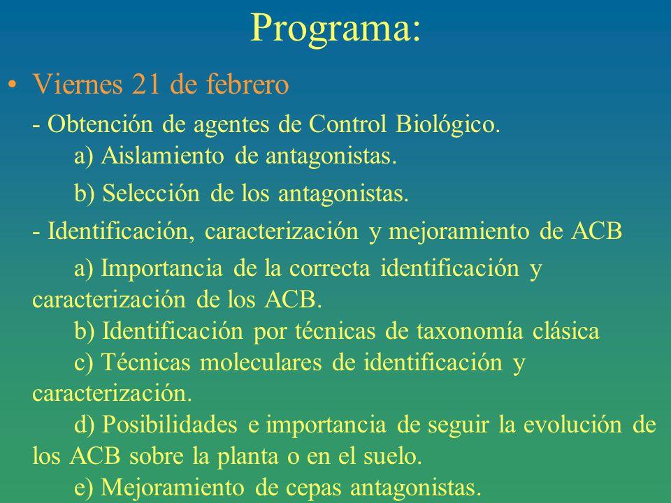 Programa: Viernes 21 de febrero