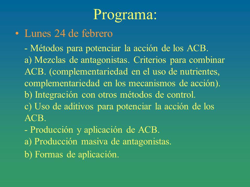 Programa: Lunes 24 de febrero