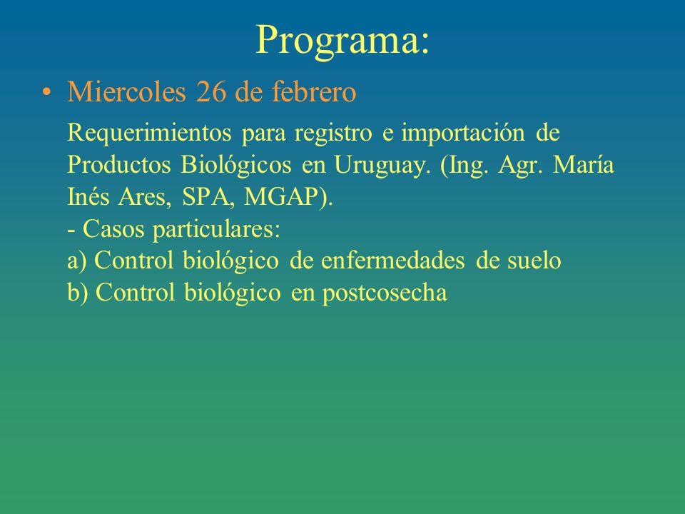 Programa: Miercoles 26 de febrero