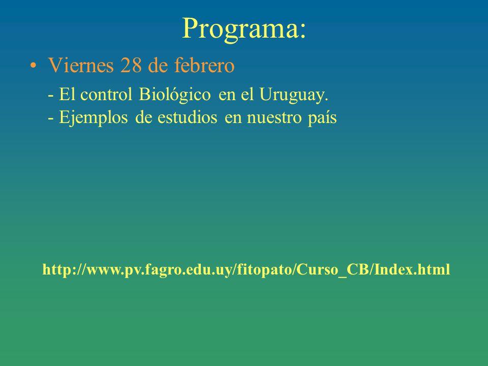 Programa: Viernes 28 de febrero