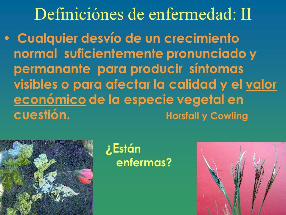 Definiciónes de enfermedad: II
