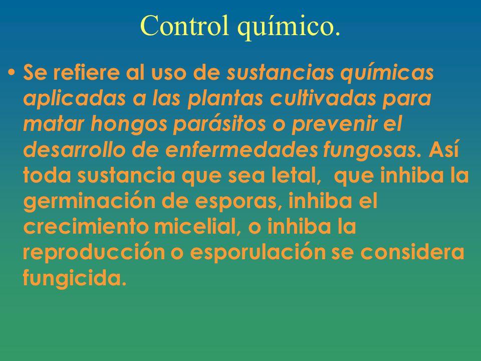 Control químico.