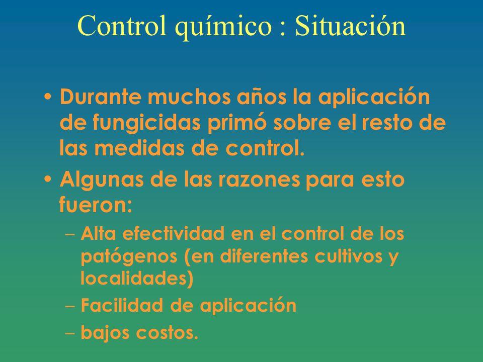 Control químico : Situación