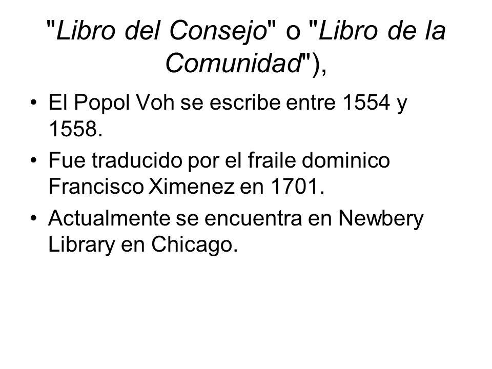 Libro del Consejo o Libro de la Comunidad ),