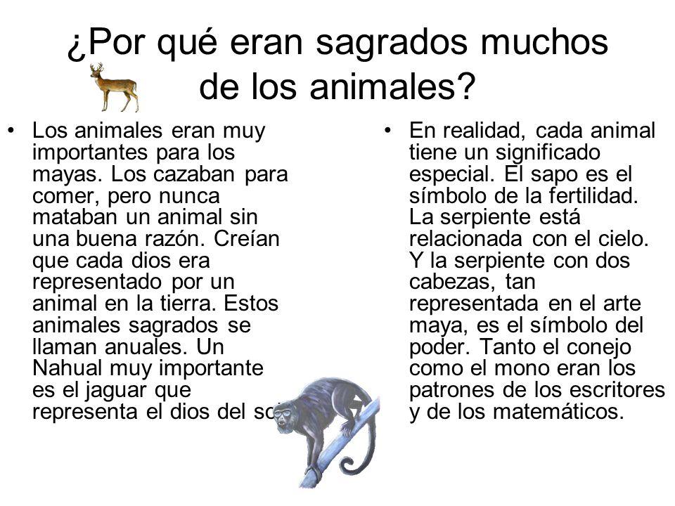 ¿Por qué eran sagrados muchos de los animales