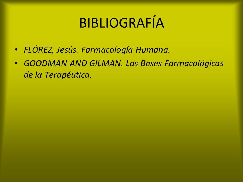 BIBLIOGRAFÍA FLÓREZ, Jesús. Farmacología Humana.