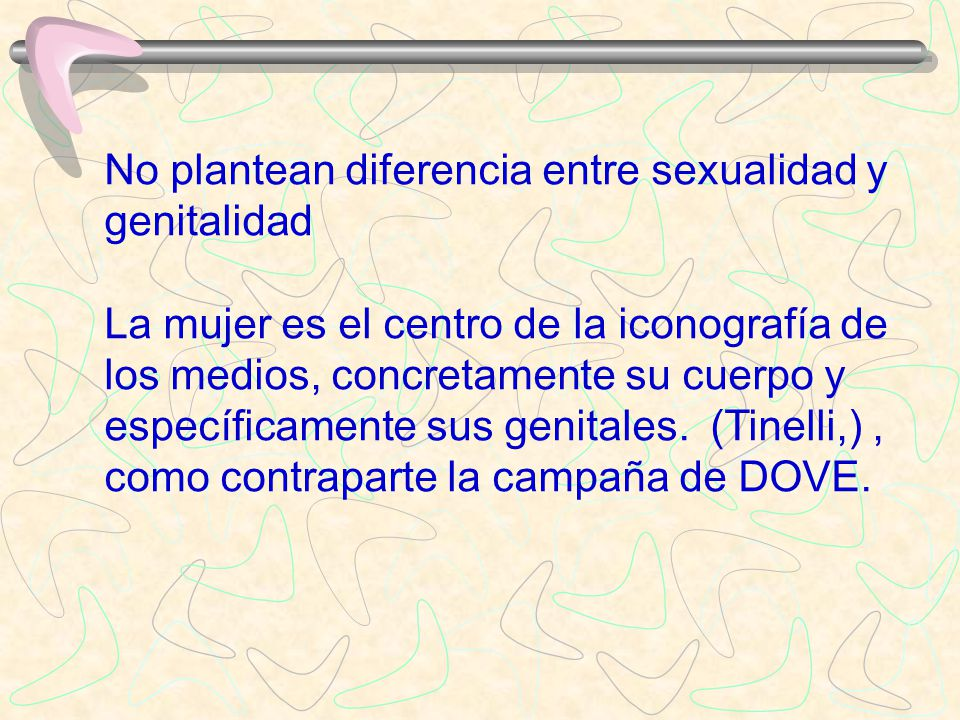 No plantean diferencia entre sexualidad y genitalidad