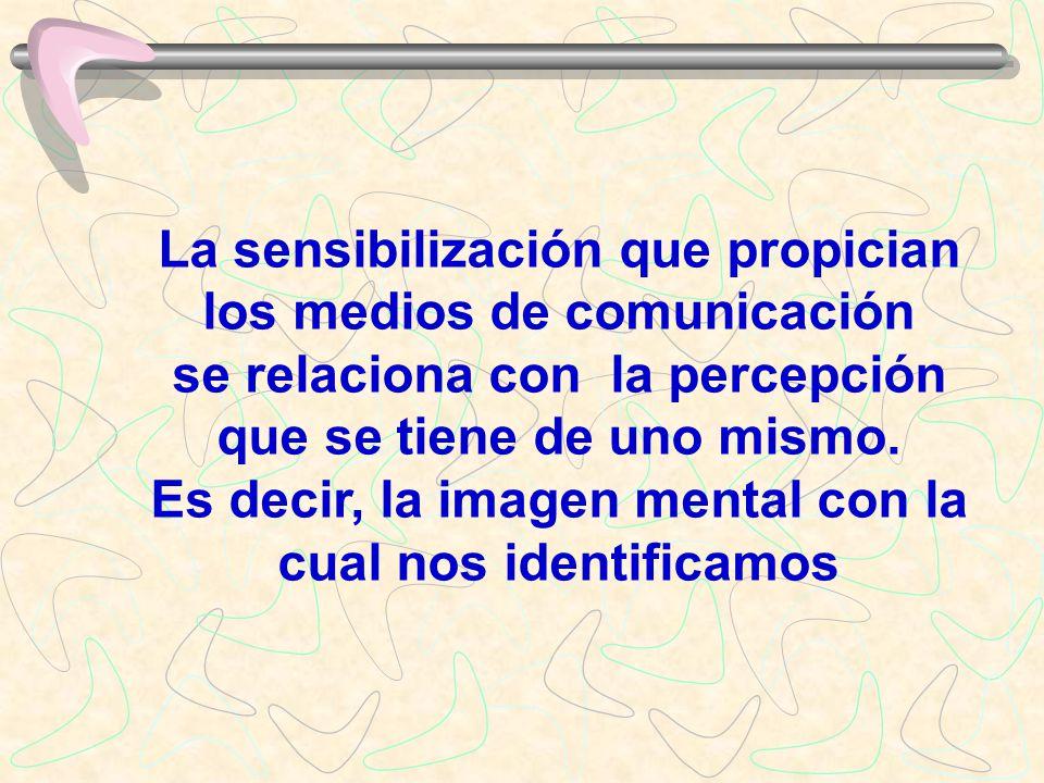 La sensibilización que propician los medios de comunicación se relaciona con la percepción que se tiene de uno mismo.