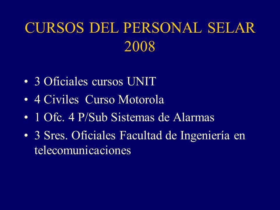 CURSOS DEL PERSONAL SELAR 2008