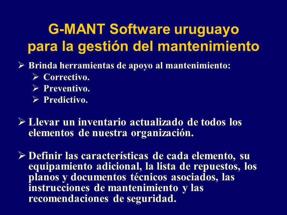 G-MANT Software uruguayo para la gestión del mantenimiento