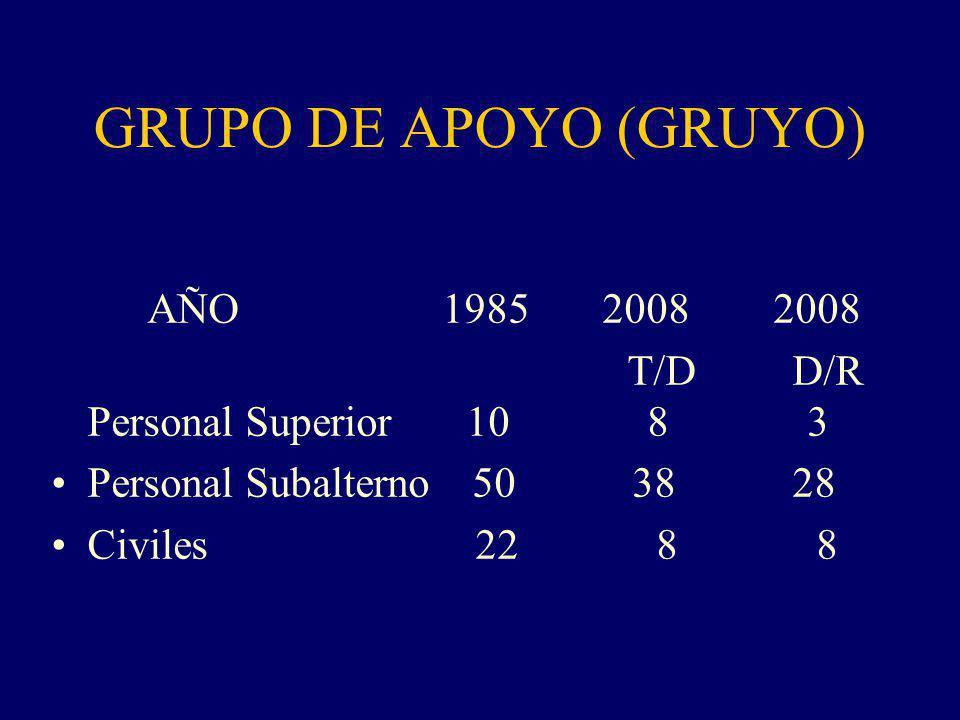 GRUPO DE APOYO (GRUYO) AÑO 1985 2008 2008