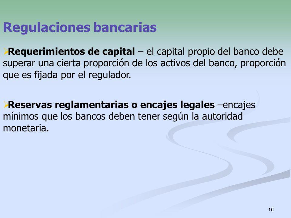Regulaciones bancarias