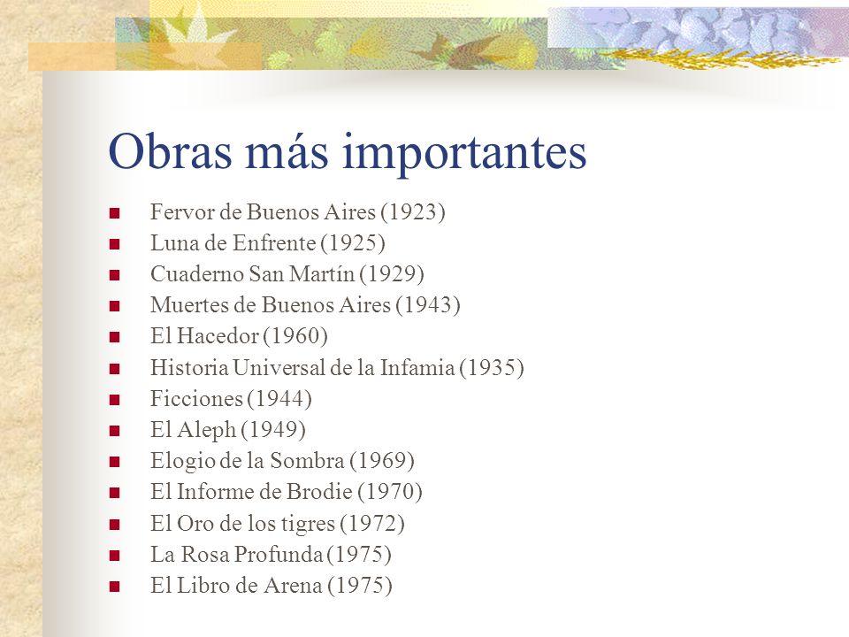 Obras más importantes Fervor de Buenos Aires (1923)