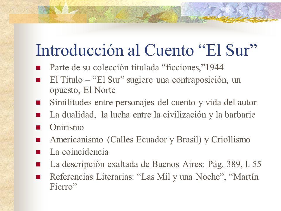 Introducción al Cuento El Sur