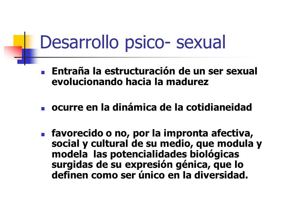 Desarrollo psico- sexual