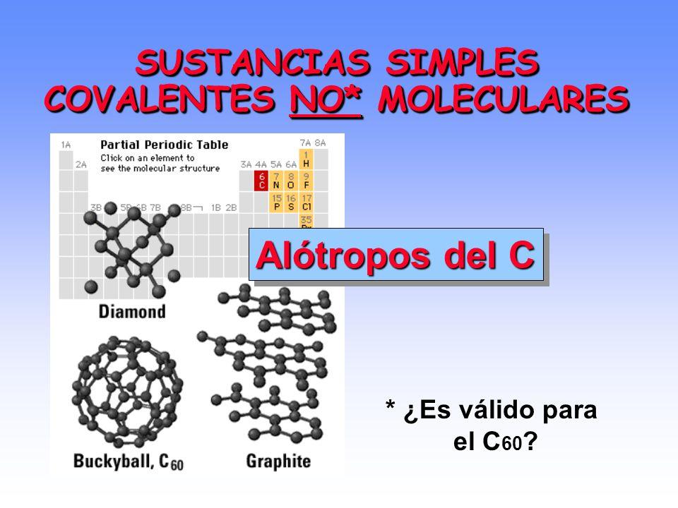 SUSTANCIAS SIMPLES COVALENTES NO* MOLECULARES