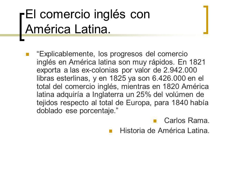 El comercio inglés con América Latina.