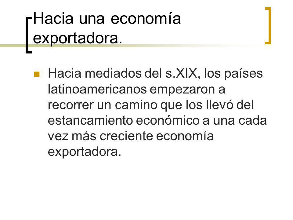 Hacia una economía exportadora.