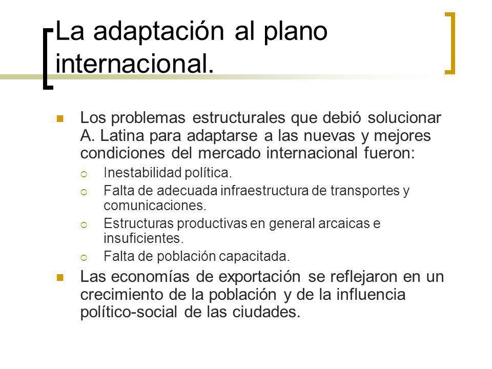 La adaptación al plano internacional.