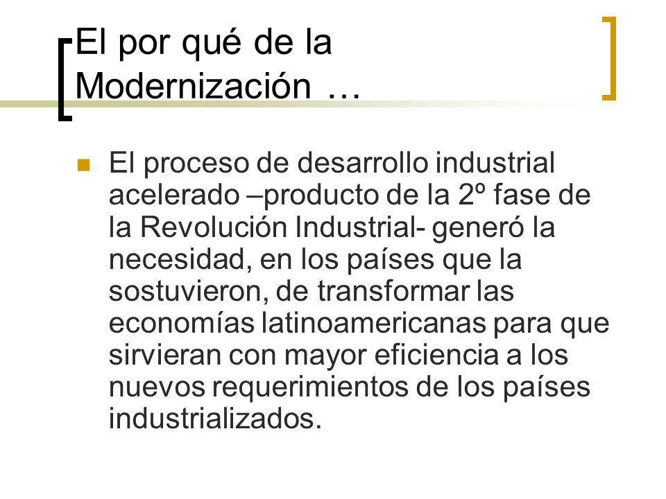 El por qué de la Modernización …