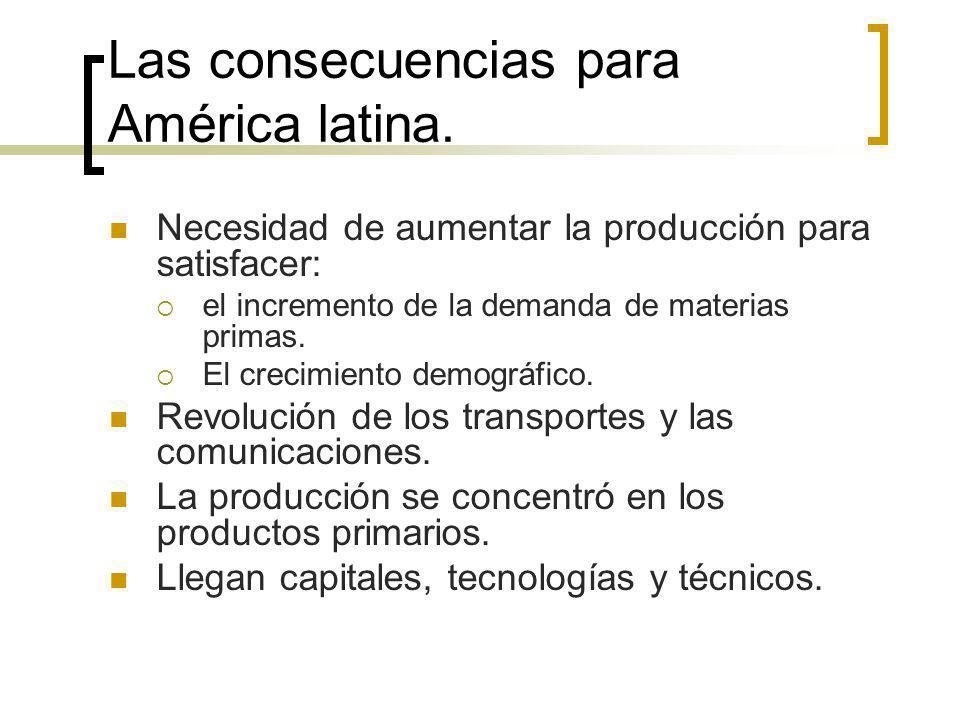 Las consecuencias para América latina.