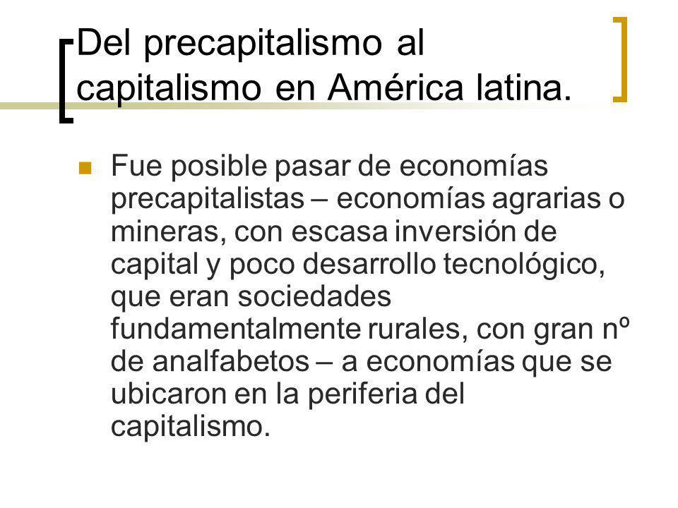 Del precapitalismo al capitalismo en América latina.