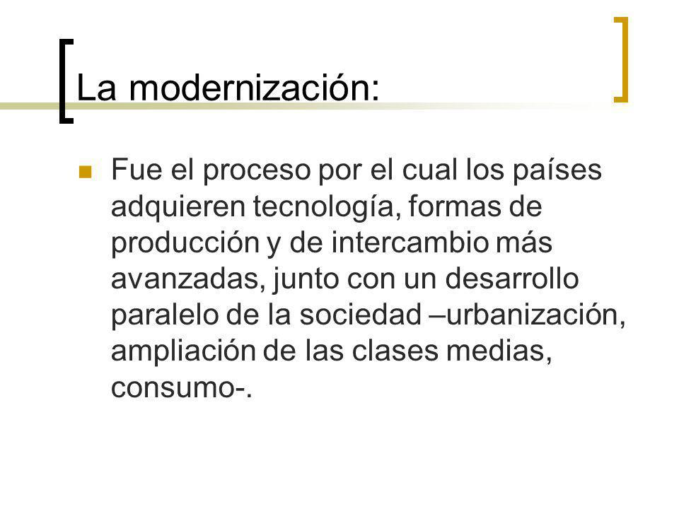 La modernización: