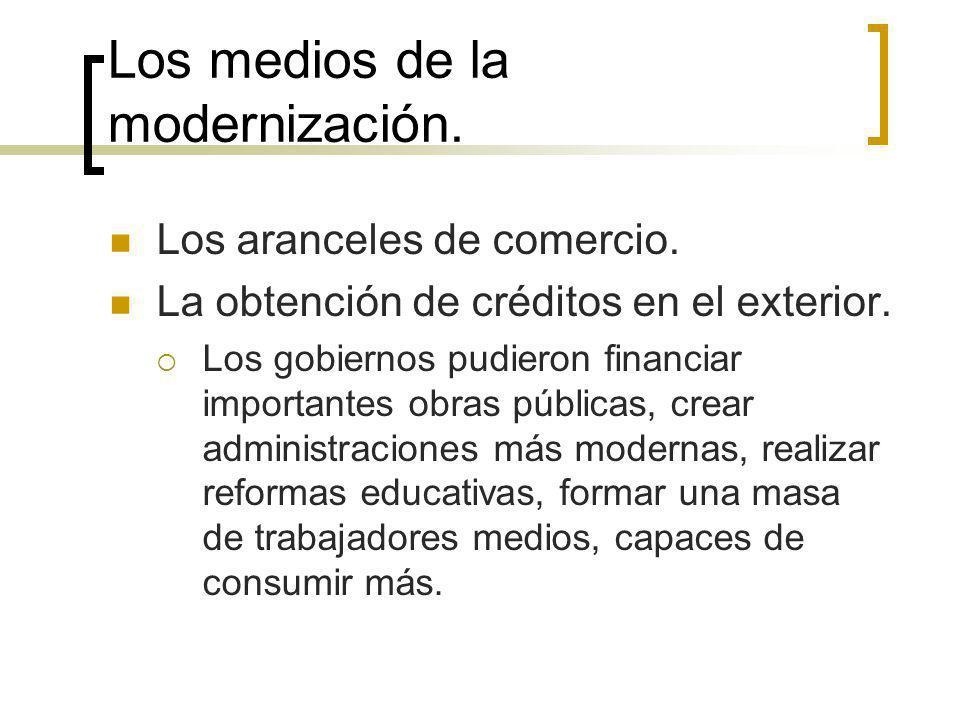 Los medios de la modernización.