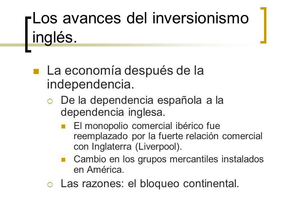 Los avances del inversionismo inglés.