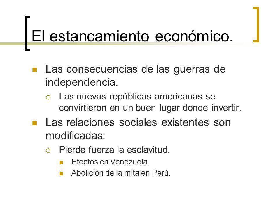 El estancamiento económico.