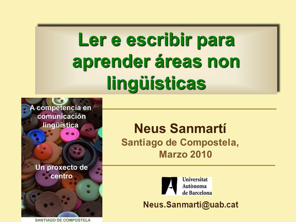 Ler e escribir para aprender áreas non lingüísticas
