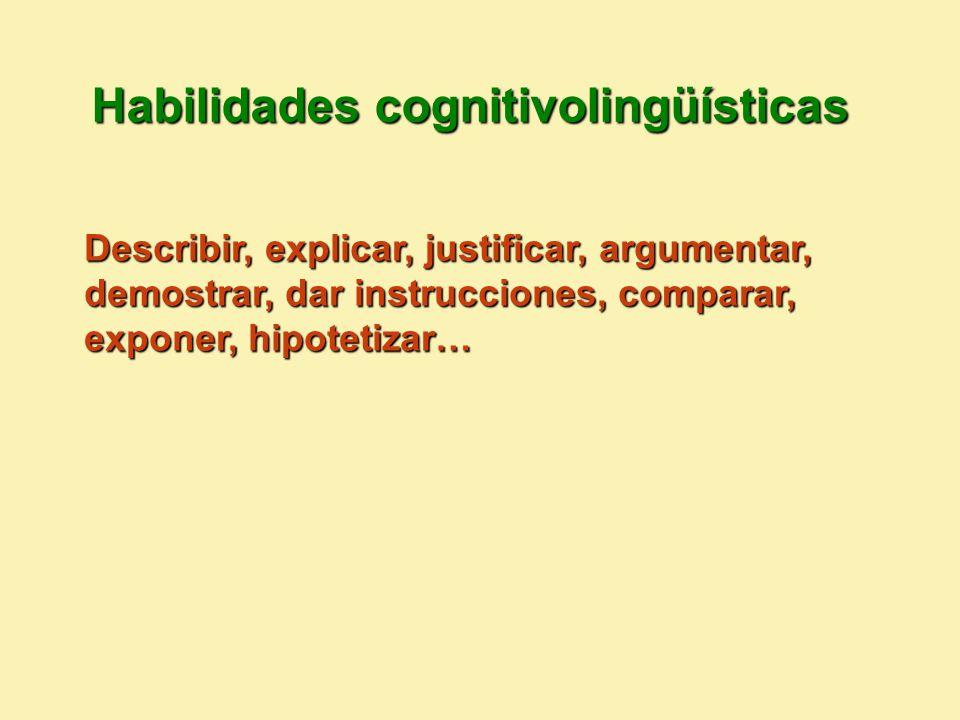 Habilidades cognitivolingüísticas