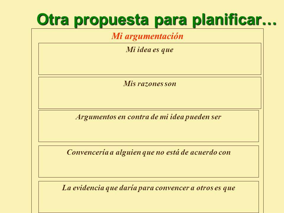 Otra propuesta para planificar…