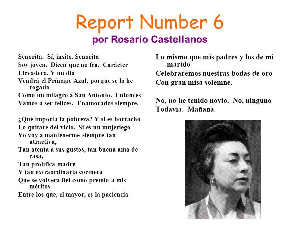 Report Number 6 por Rosario Castellanos