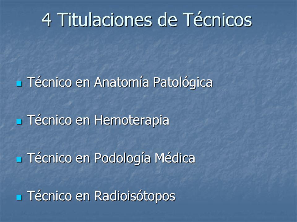 4 Titulaciones de Técnicos