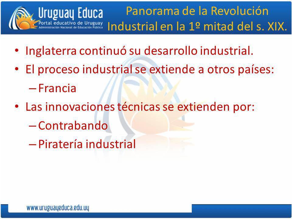 Panorama de la Revolución Industrial en la 1º mitad del s. XIX.