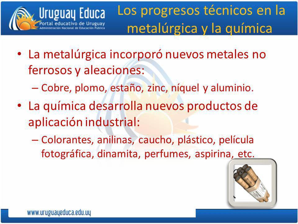 Los progresos técnicos en la metalúrgica y la química