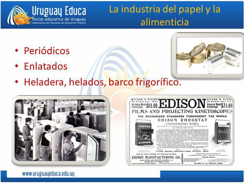 La industria del papel y la alimenticia