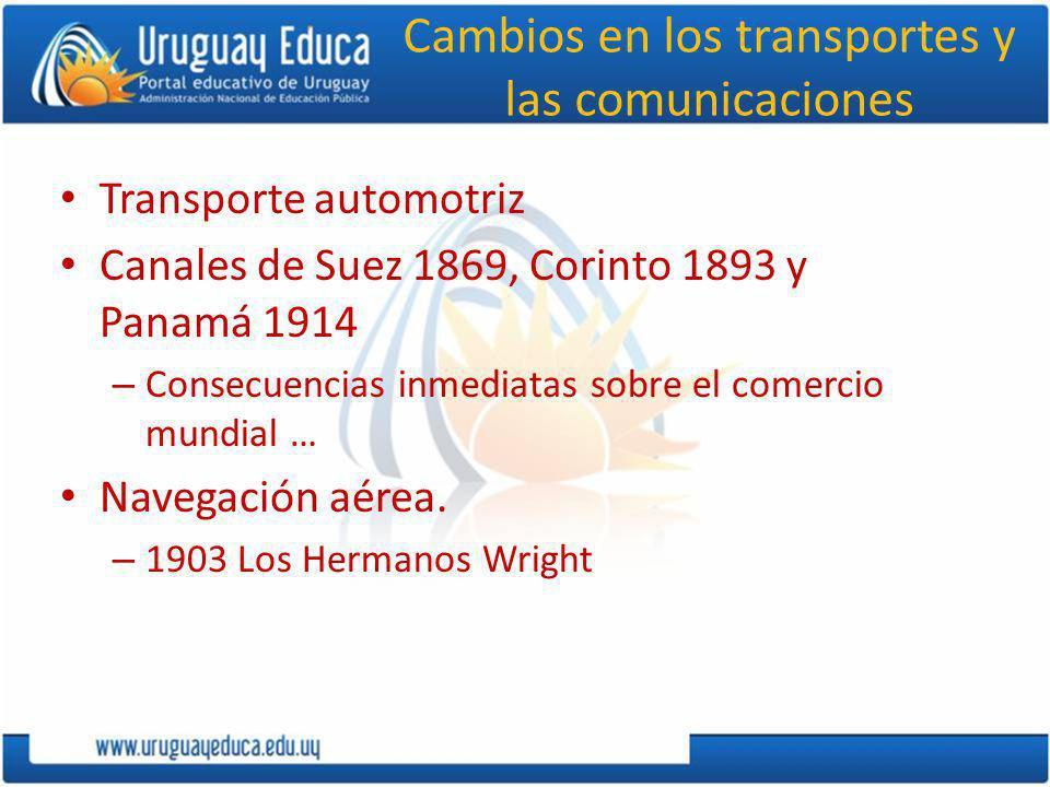 Cambios en los transportes y las comunicaciones
