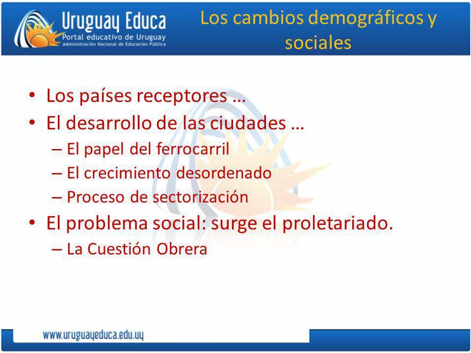 Los cambios demográficos y sociales