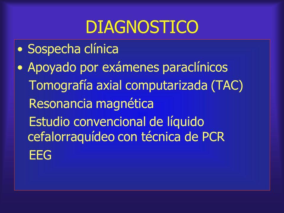 DIAGNOSTICO Sospecha clínica Apoyado por exámenes paraclínicos